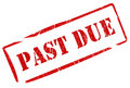 Past due stamp Stock Image