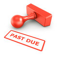Past due stamp Royalty Free Stock Photo