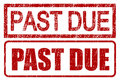 Past Due Stamps Stock Photos