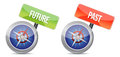Past and future Glossy Compass illustration design Royalty Free Stock Photography