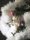 Pasta angel on Christmas tree Royalty Free Stock Photos