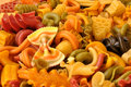 Pasta appetizing artisan of various shapes and colors Stock Photography