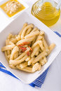 Pasta with artichoke pesto. Royalty Free Stock Photography