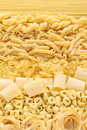 Pasta assortment italian food image Stock Photo