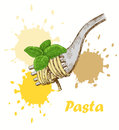 Pasta background Stock Photo