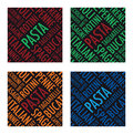 Pasta background a square set Royalty Free Stock Image