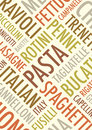 Pasta background an a text Royalty Free Stock Image