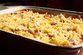 Pasta bake c photograph of a prepared in a dish Stock Photos