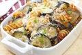 Pasta Bake with Eggplant Royalty Free Stock Photo