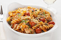 Pasta Bake with Tuna and Tomatoes Royalty Free Stock Images