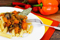Pasta With Baked Pumpkin With ...