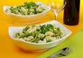 Pasta with Beans, Peas ad Parsley Royalty Free Stock Image