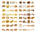 Pasta, bread and nuts Royalty Free Stock Photo