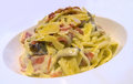 Pasta Cabonara Royalty Free Stock Photo