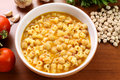 Pasta with chickpeas Stock Photography