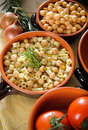 Pasta and chickpeas Royalty Free Stock Images