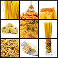 Pasta collage Royalty Free Stock Photo
