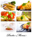 Pasta collage 2 Stock Images