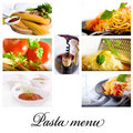 Pasta collage Stock Photos