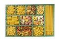 Pasta collection in box Royalty Free Stock Image