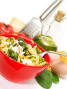 Pasta Collection - Tagliatelle with brocolli Royalty Free Stock Photo