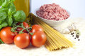 Pasta components Royalty Free Stock Images