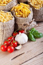 Pasta and cooking ingredients Royalty Free Stock Photos