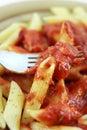 Pasta fork close up. Royalty Free Stock Photo