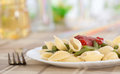 Pasta with French bean Royalty Free Stock Photography