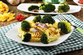 Pasta with fresh broccoli and anchovies Royalty Free Stock Photo