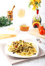 Pasta with fresh sardines and fennel Royalty Free Stock Photo