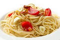 Pasta garlic olive oil and red chili pepper Stock Image