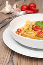 Pasta With Garlic and Tomatoes Royalty Free Stock Photo