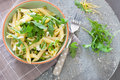 Pasta with goatcheese and rocket Royalty Free Stock Photography