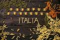 Pasta italian flag Royalty Free Stock Photo