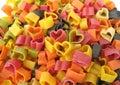 Pasta Italian heart shaped Stock Image
