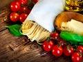Pasta. Italian Homemade Spaghetti Royalty Free Stock Photo