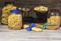 Pasta italian ,spaghetti and macaroni Royalty Free Stock Photo