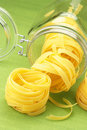 Pasta and jar Stock Photos