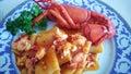 Pasta lobster Royalty Free Stock Photo
