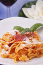 Pasta with meat sauce Stock Image