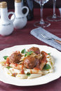 Pasta Meatballs Stock Photos