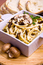 Pasta with mushrooms Stock Image