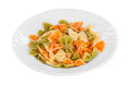 Pasta penne rigate on plate. Royalty Free Stock Photo