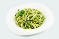 Pasta with pesto sauce Royalty Free Stock Photo