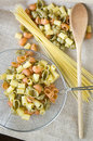 Pasta prepare for cooking colorful raw Royalty Free Stock Images