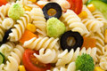 Pasta salad background Royalty Free Stock Photo