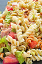 Pasta salad closeup of a refreshing Stock Images