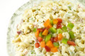 Pasta Salad with Colorful Peppers Stock Photos