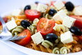 Pasta salad with feta cheese Royalty Free Stock Photos